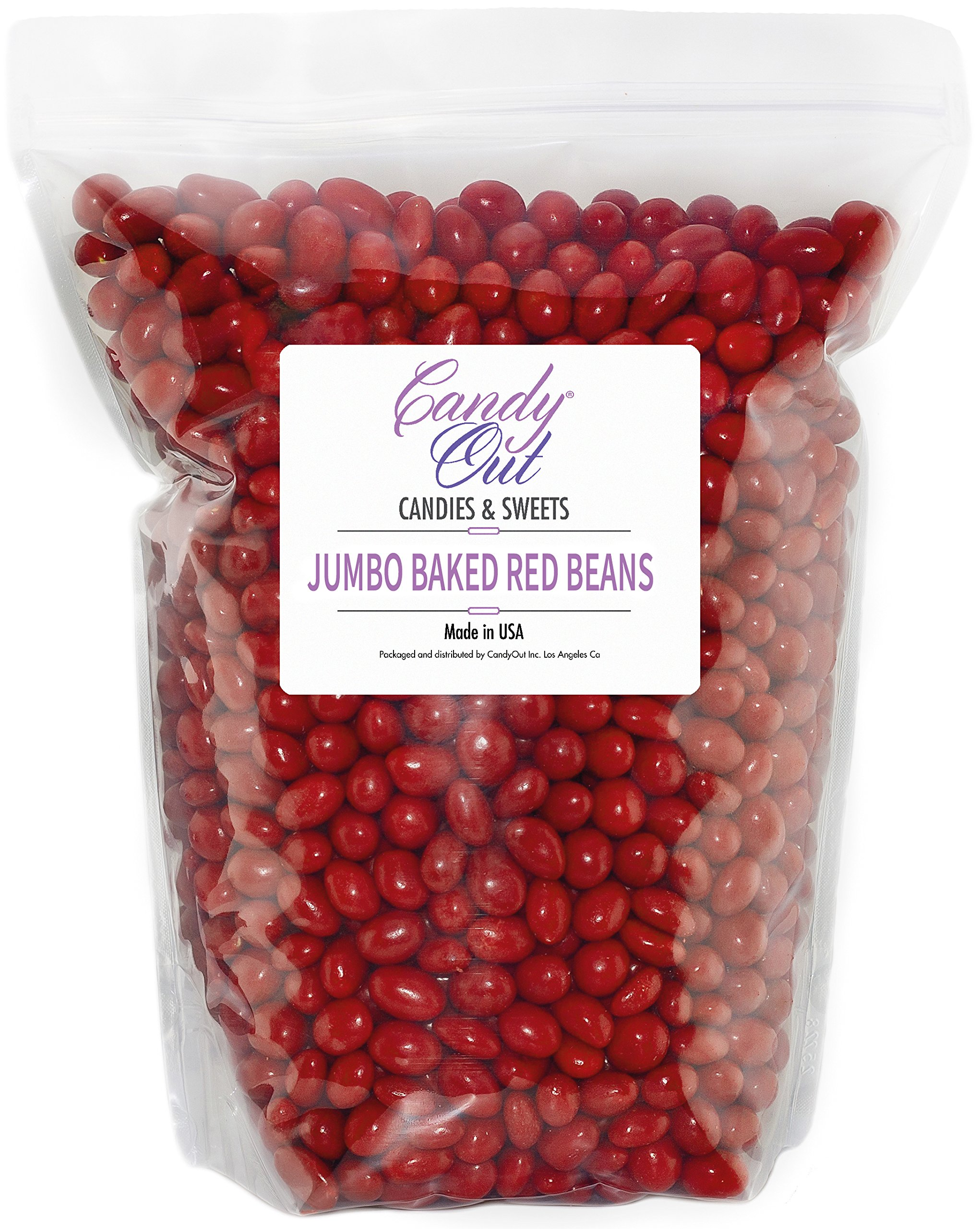 CandyOut Boston Beans Red Candy Coated Peanuts in 5 Pound Resealable Bag