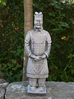 Small Chinese Terracotta Warriors Canvas II By IV Cast Stone Frost Resistant