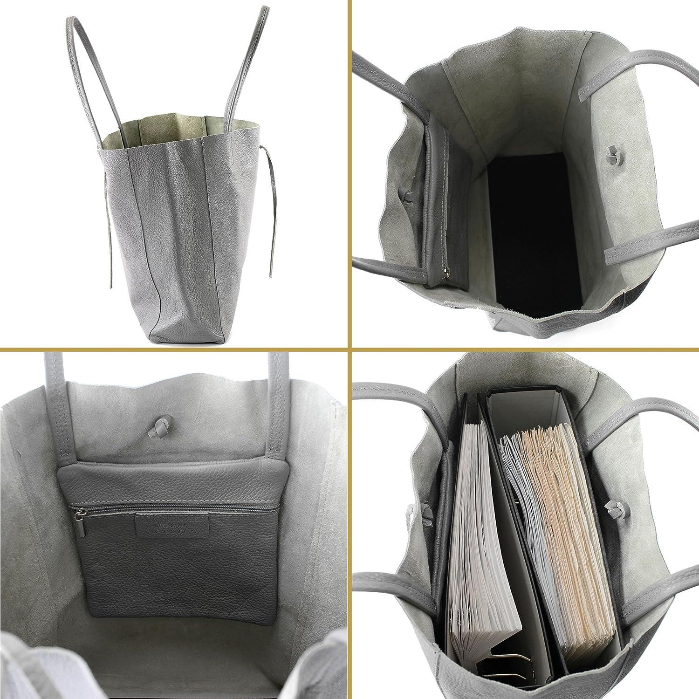 modamoda de – T163 – Ital. Shoppare med innerficka av läder lila
