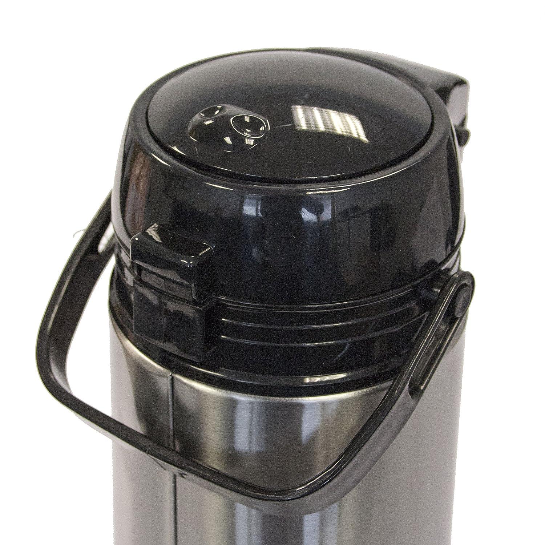 //–/Doble pared dispensador de bebidas//–/Mantiene Vino Caliente y otras bebidas hasta 24/horas caliente o fr/ío, acero inoxidable, plata, 1,9 Liter Oxid7//® termo