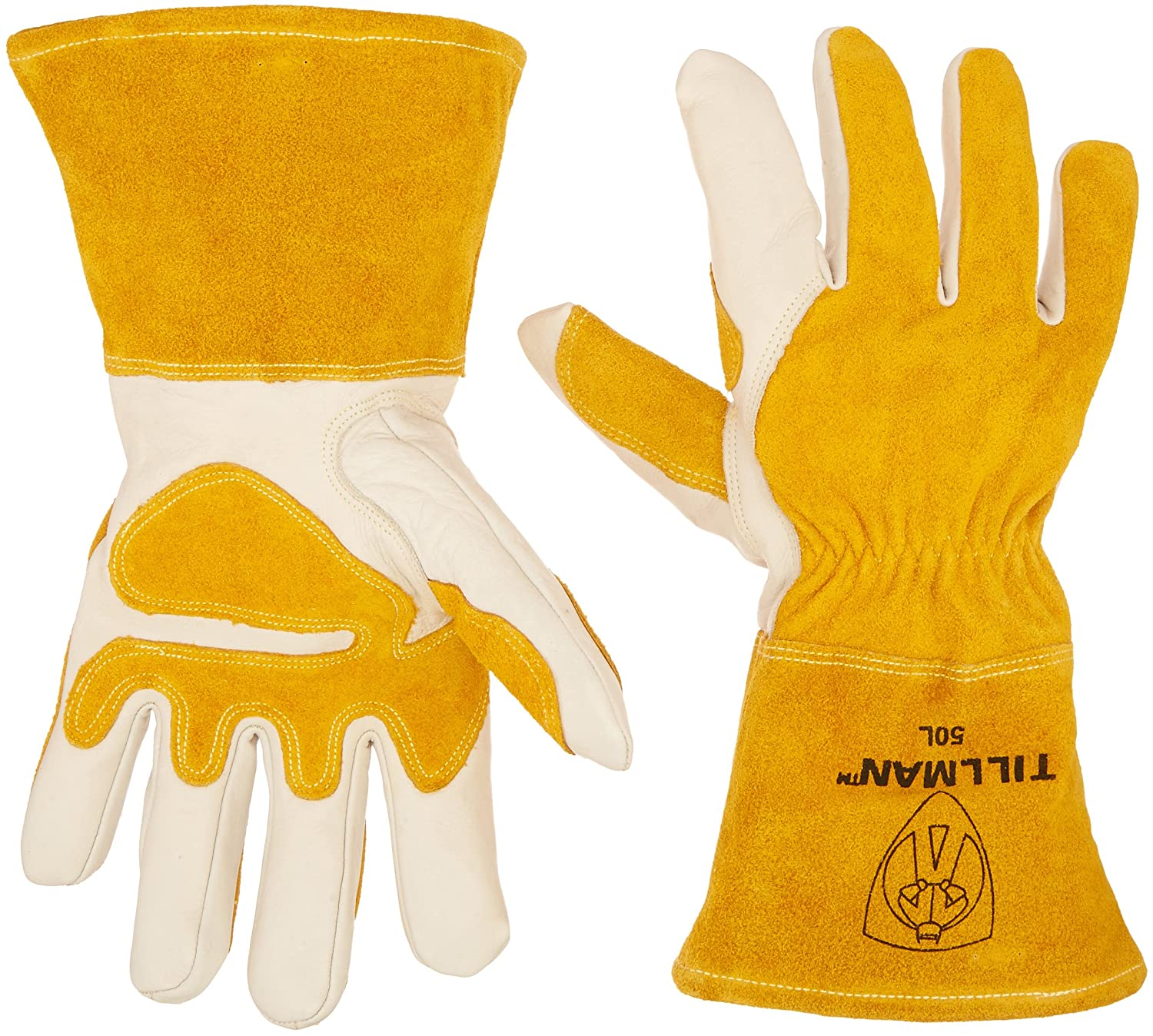 John Tillman and Co 50L Top Grain Leather MIG Gloves with Split Leather  Palm Reinforcements 5dd8ad216