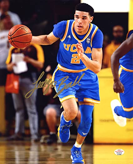 on sale 9ef32 3c7b9 Lonzo Ball UCLA Bruins Signed Autographed 8