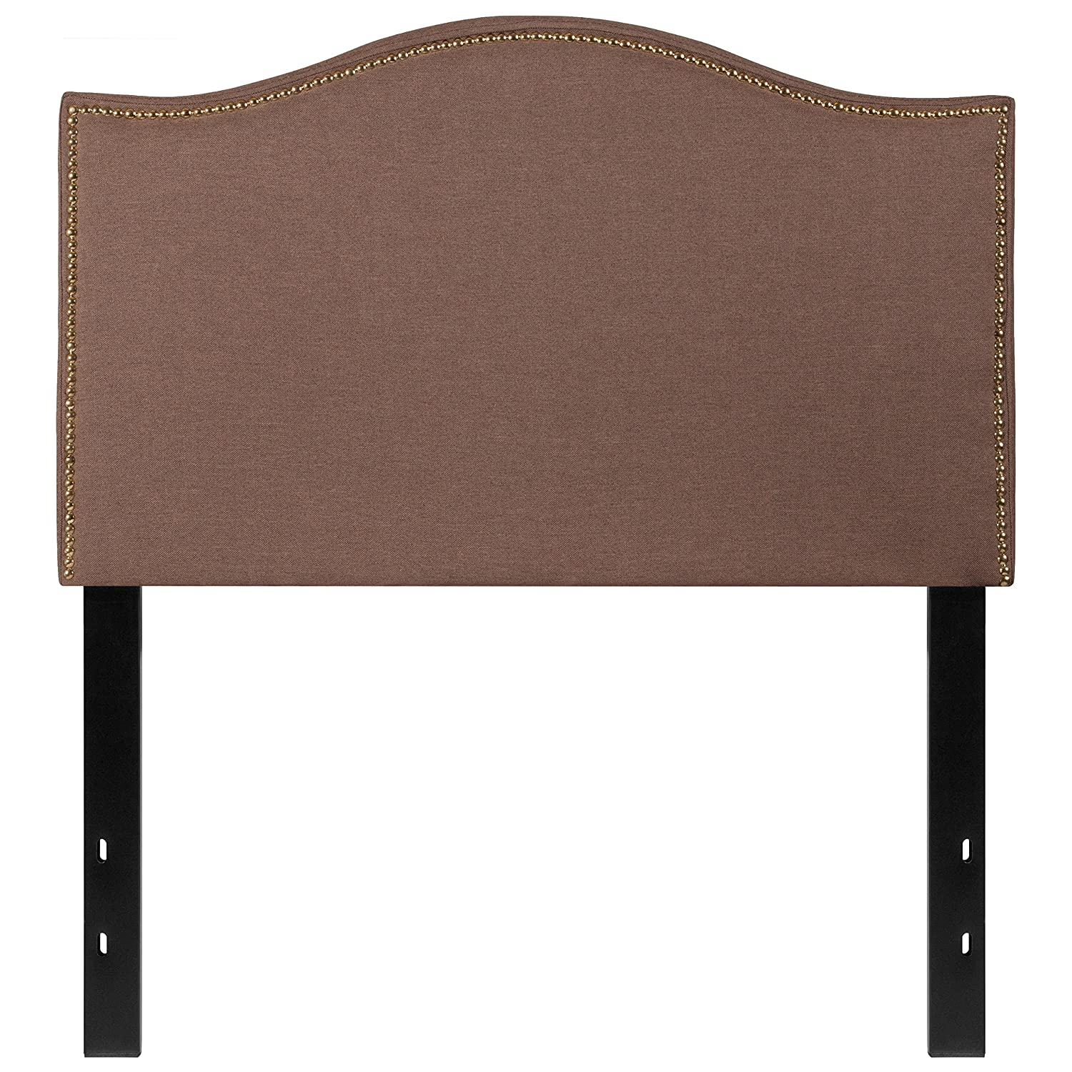 Flash Furniture Lexington Upholstered Twin Size Headboard with Decorative Nail Trim in Beige Fabric HG-HB1707-T-B-GG