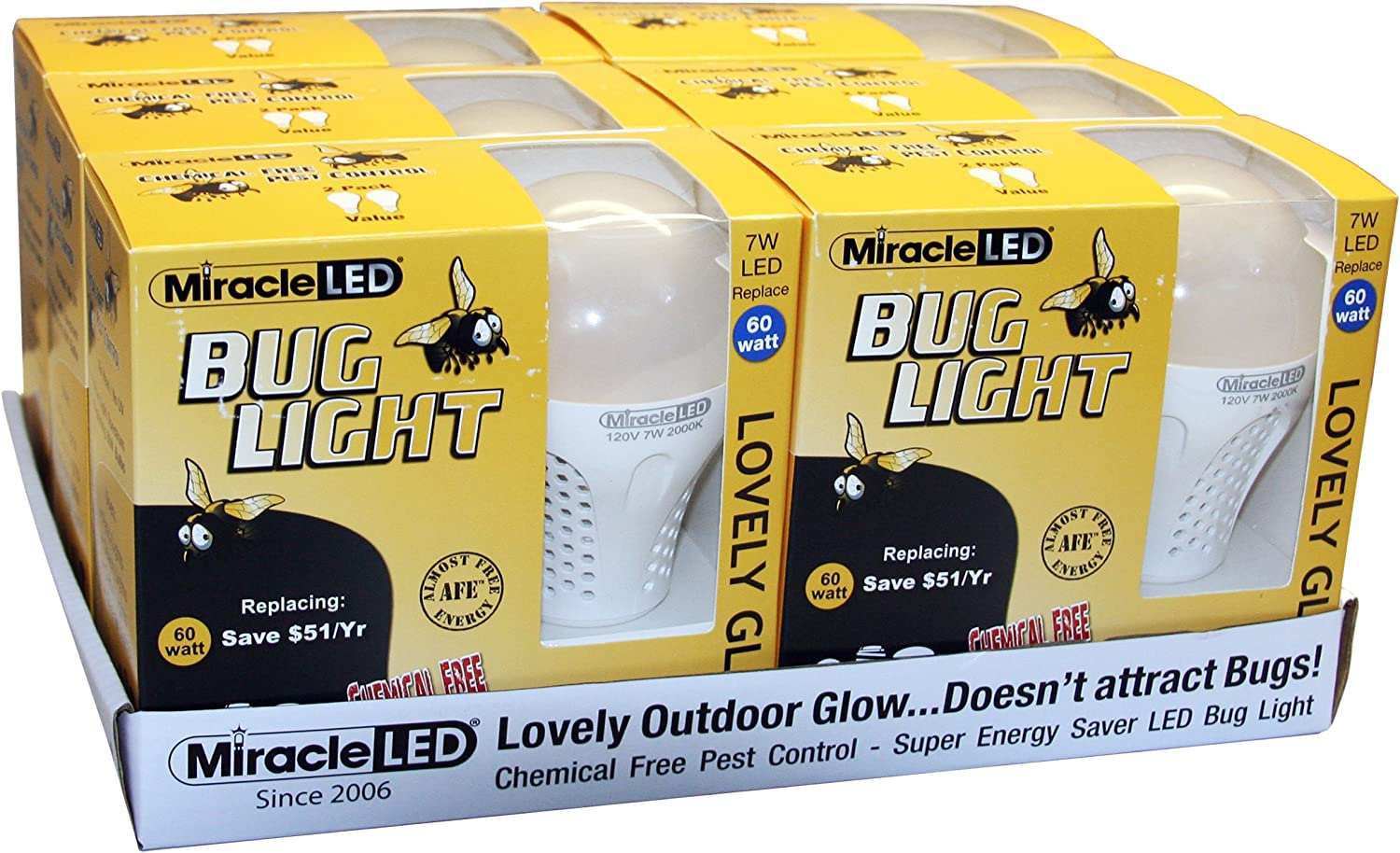 MiracleLED 604079 Lovely Glow Bug Light 36 Piece