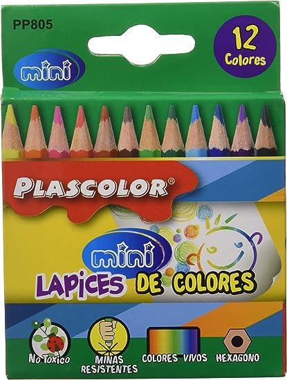 Plascolor PP805 - Pack de 12 lápices de color: Amazon.es: Oficina y papelería