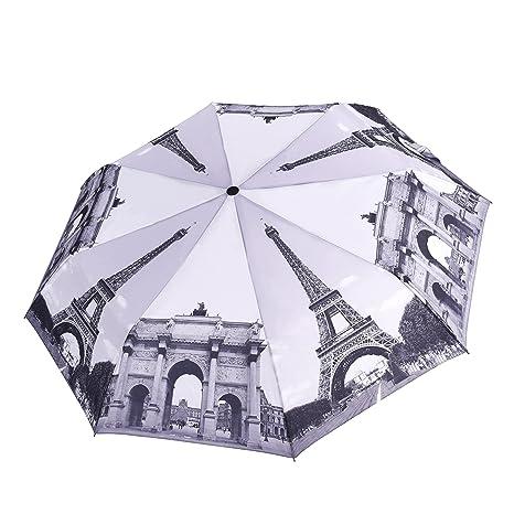 Paraguas Rainbrace-Para Viaje, Automático, Resistente al Viento, Compacto, Estampado de