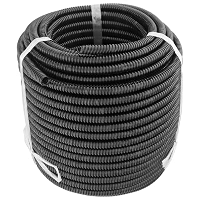 GS Power 50 FT Split Loom Tube - Polyethylene High Temperature Automotive, Marine, Industrial Electrical Wire & Cable Conduit | 1/4 inch, 50 Feet (Also Available in: 3/8, 1/2 & 3/4 inch): Automotive