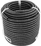 "GS Power 3/8"" | 50ft Split Loom Tube Polyethylene PE High Temperature Automotive, Marine, Industrial Electrical Wire…"