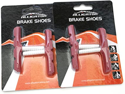 BLACK Dia-Compe OPC-12 non-threaded threadless cantilever U-brake brake pads