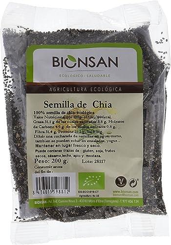 Bionsan Semillas de Chía Ecológicas - 4 Bolsas de 200 g - Total: 800 g: Amazon.es: Alimentación y bebidas