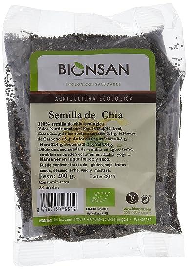 Bionsan Semillas de Chía - 4 Paquetes de 200 gr - Total: 800 gr