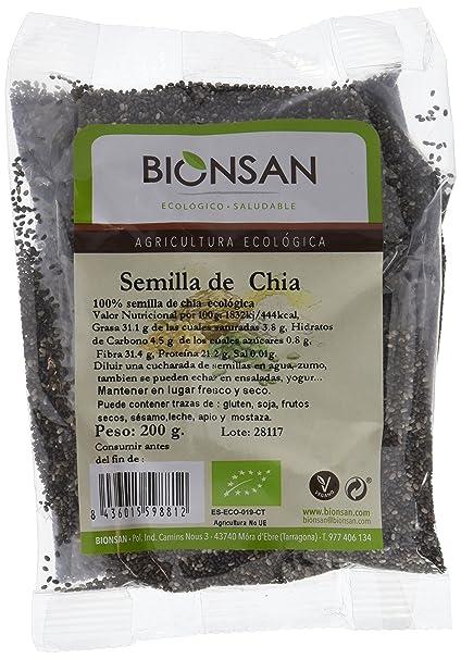 Bionsan Semillas de Chía Ecológicas | 4 Paquetes de 200 g ...