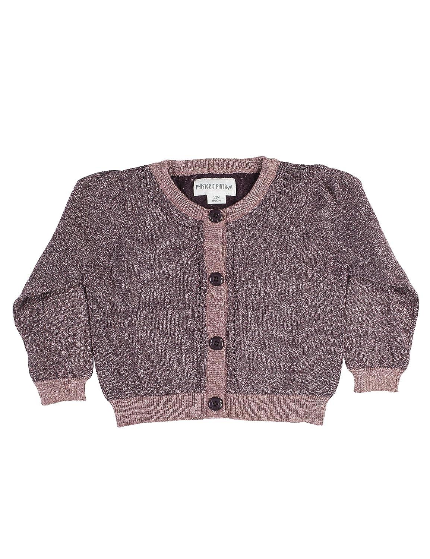 Phister & Philina Baby Girls' Alberte Lurex Strickjacke Cardigan Pure Kids P0309-0321