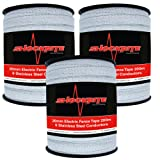3 x 200m x 20mm Electric Fence Fencer Fencing Poly Tape 6 Strand Polytape