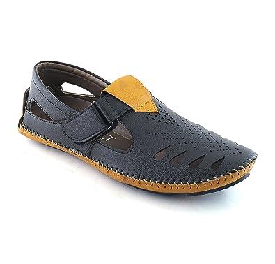 2a4e85e33 jerkey Men's Casual Canvas Sandal in Black Colour/Sandals for Mens Casual Sandals  for Men