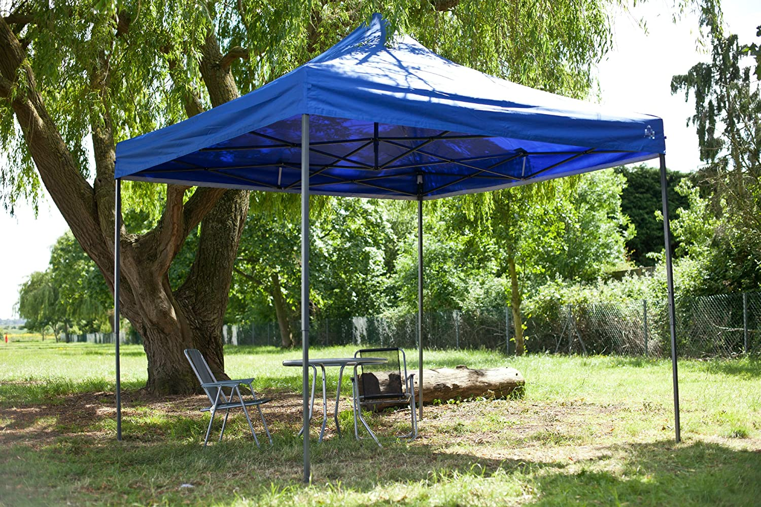 All Seasons Gazebos Carpa de 3 x 3 m, Resistente, Totalmente Impermeable, Desmontable, con Pesos en Las Patas: Amazon.es: Jardín