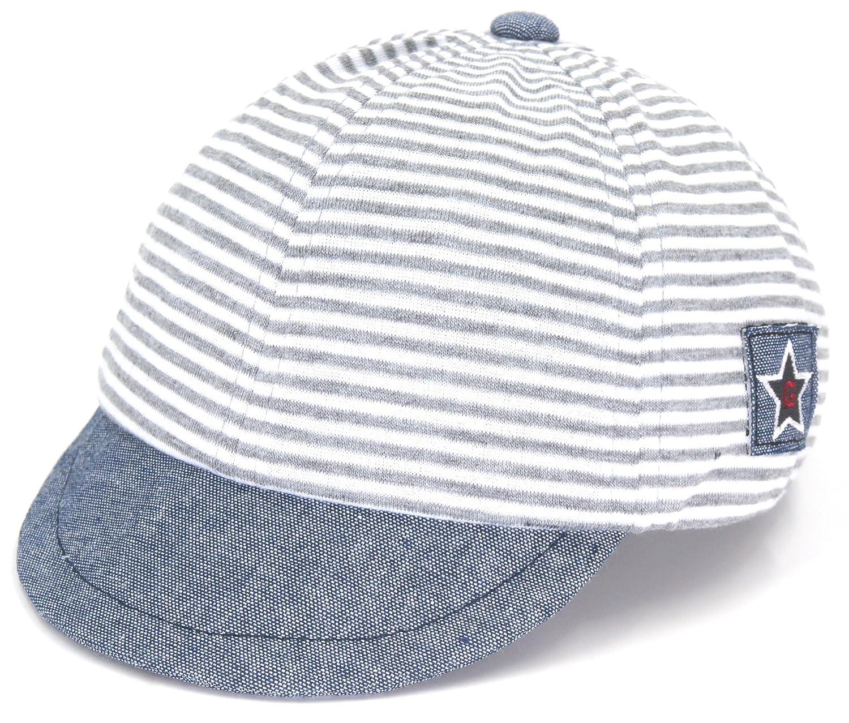 Baby TotMore Unisex Baby Toddler Soft Stripes Baseball Cap Sun Hat Snapback Hat Visor