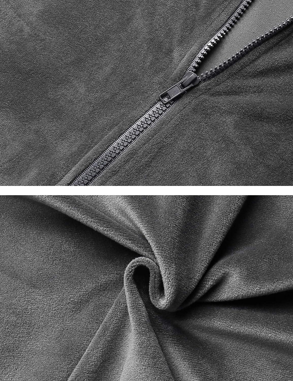 Pantaloni Lunghi in Velluto Tuta da Ginnastica per Stare alla Casa Abollria Donna Tuta Sportiva e Pigiama Set Completi Sportivi Due Pezzi Giacca con Chiusura Lampo