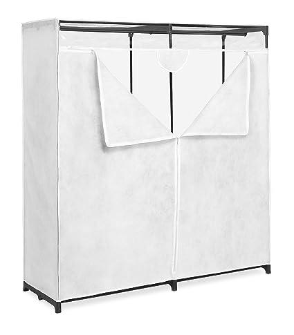 Bon Whitmor Extra Wide Clothes Closet, White, 60u0026quot;