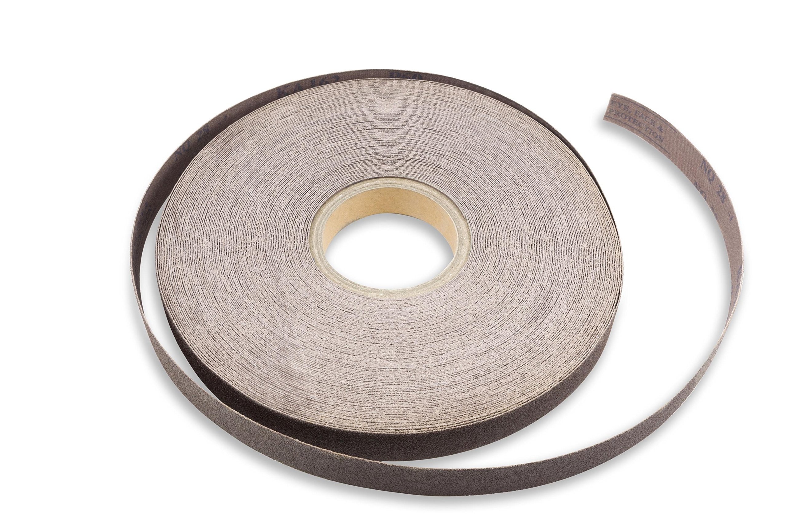 Norton K225 Metalite Abrasive Roll Cloth Backing Aluminum Oxide Grit P220 1-1//2 Width x 50yd Length Pack of 5