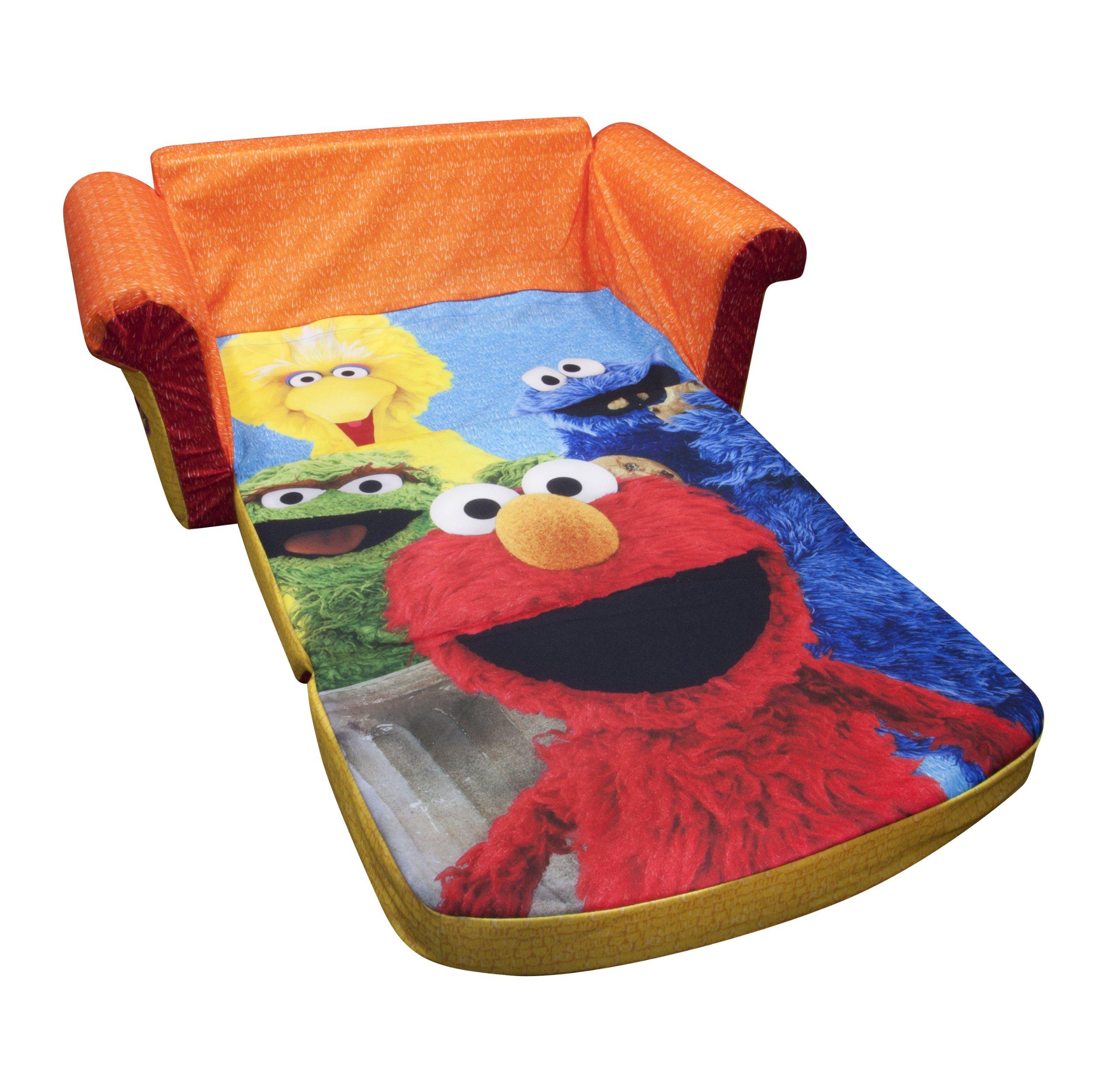 Marshmallow Furniture, Children's 2 in 1 Flip Open Foam Sofa, Sesame Street's Elmo/Sesame, by Spin Master by Marshmallow Furniture (Image #3)