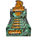 Grenade Carb Killa Dark Chocolate Mint High Protein and Low Carb Bar, 12 x 60 g