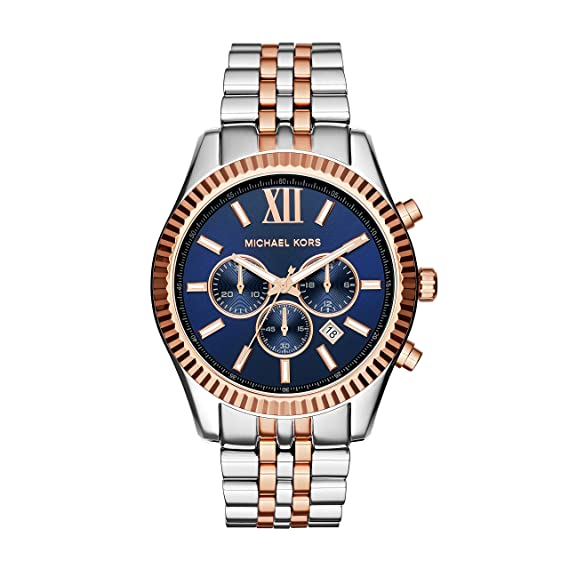 Micheal Kors Hombre Reloj de Pulsera Cronógrafo Cuarzo Acero Inoxidable mk8412: Michael Kors: Amazon.es: Relojes