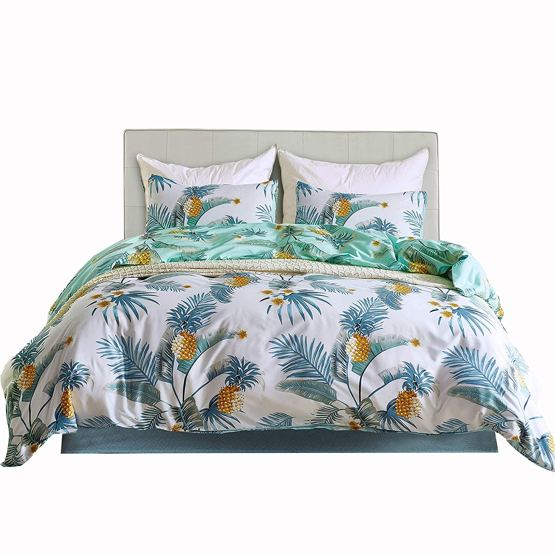 1duvet Cover, 1pillowcase 2 Pieces Twin Size Bed Sheets Set for Boys and Girls Encoft Chevron Purple Bedding Gray Blue and Purple Chevron Prints Lightweight Microfiber Duvet Cover Set