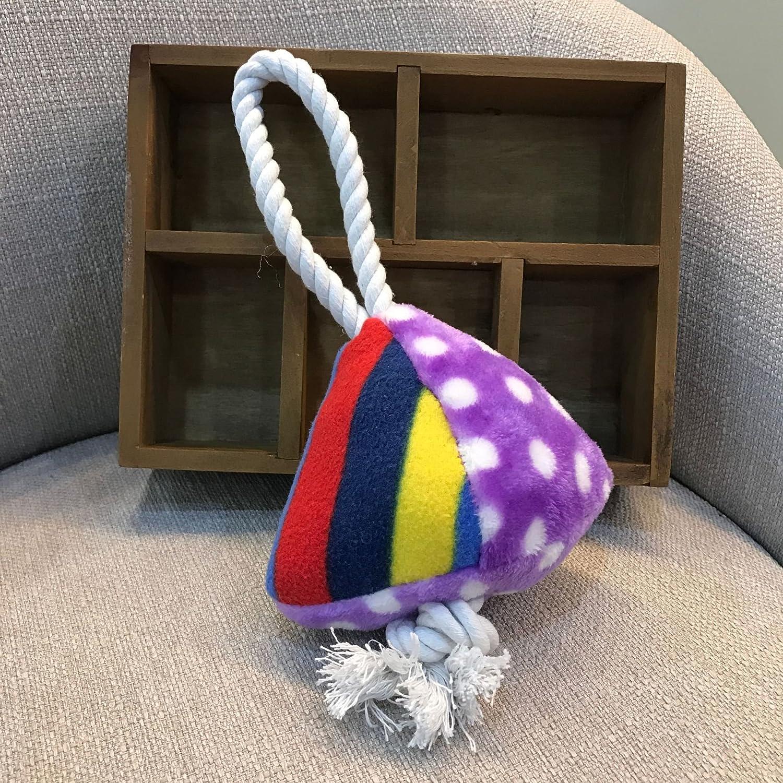 ZHJZ Azúcar Triángulo Especialmente diseñados Juguete algodón Cuerda Mascotas Juguete quietschende Juguete para Cachorros molaren Perro Interactivo (Lila Dot) Juguete para Perros: Amazon.es: Productos para mascotas
