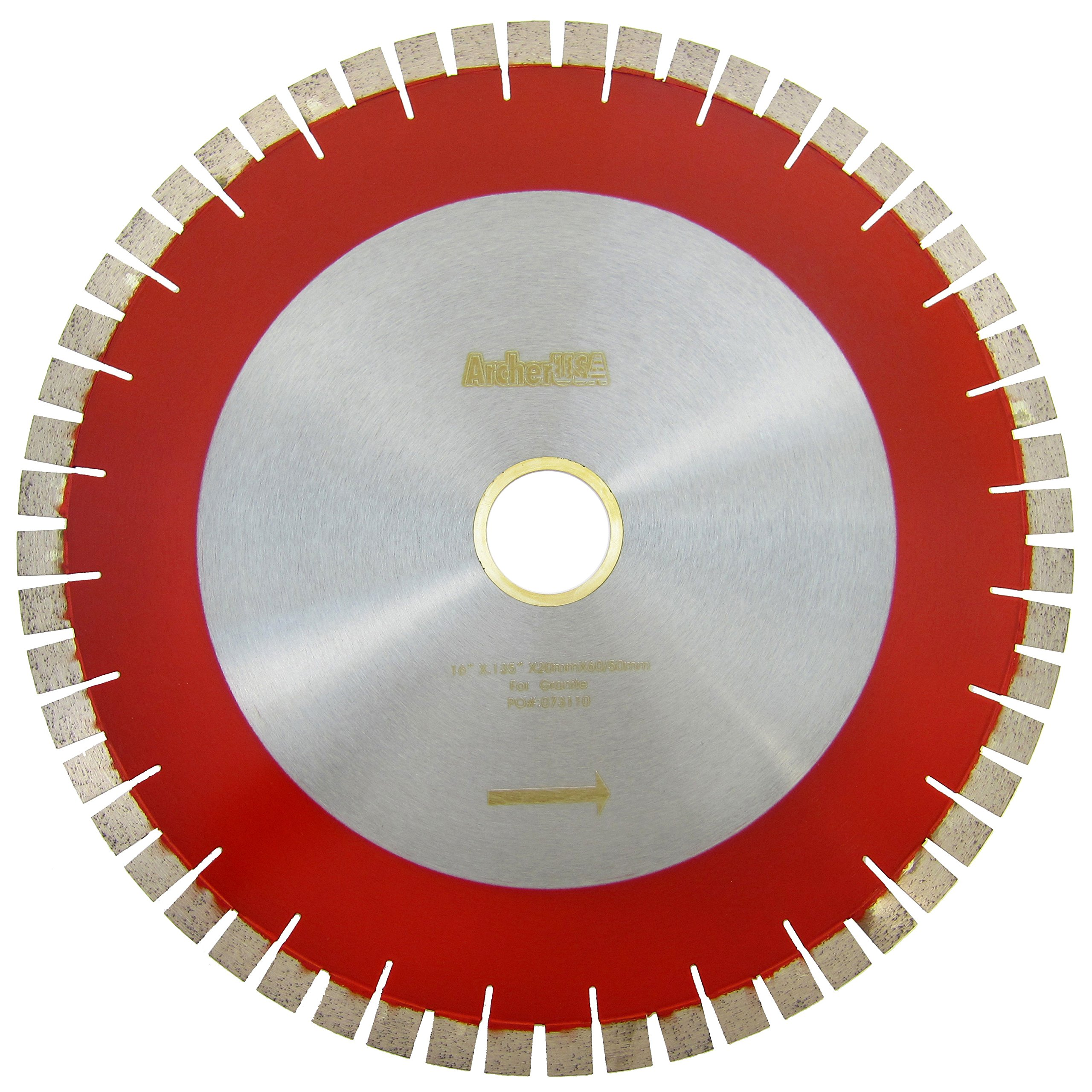 Archer USA 16 in. Bridge Saw Blade with V-Shaped Segment for Granite Cutting
