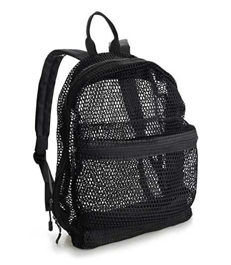 Lightweight Mesh Backpack Swimming Daypack With Removable Zipper Pouch (New  Black) 36e1549838bd2