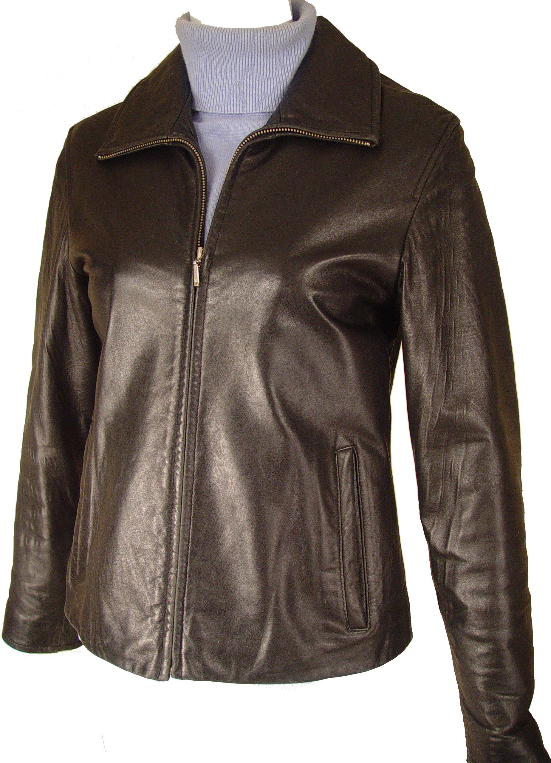 Paccilo Women 4016 PETITE & ALL SIZELamb Scuba Leather Jacket by Paccilo (Image #6)
