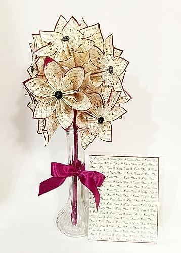 Amazon dozen i love you paper flowers vase card included dozen quoti love youquot paper flowers vase card included one mightylinksfo