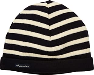 c5fd0b8f217 Armor Lux Men s Striped Knitted Hat TU Blue