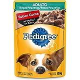 Ração Úmida Para Cachorros Pedigree Sachê Carne ao Molho Adultos Raças Pequenas 100g