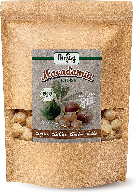 Biojoy Nueces de Macadamia orgánicas, crudas y enteras sin tostar y sin sal (1 kg): Amazon.es: Alimentación y bebidas