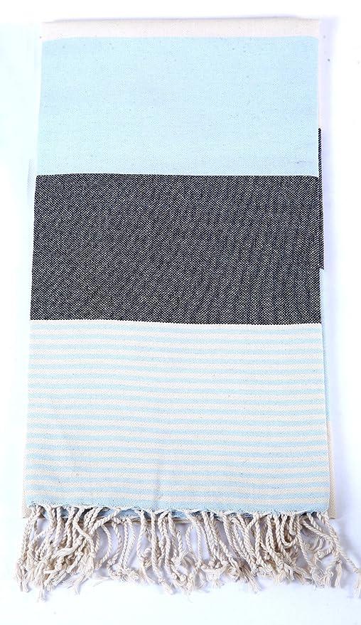 100% algodón Benetton Peshtemal (toallas turcas); playa, hammam, baño, decoración del hogar, pilates, yoga se puede utilizar.: Amazon.es: Hogar