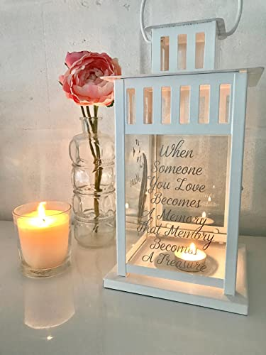 Personalised Memorial Candle Holder Memorial Lantern Wedding