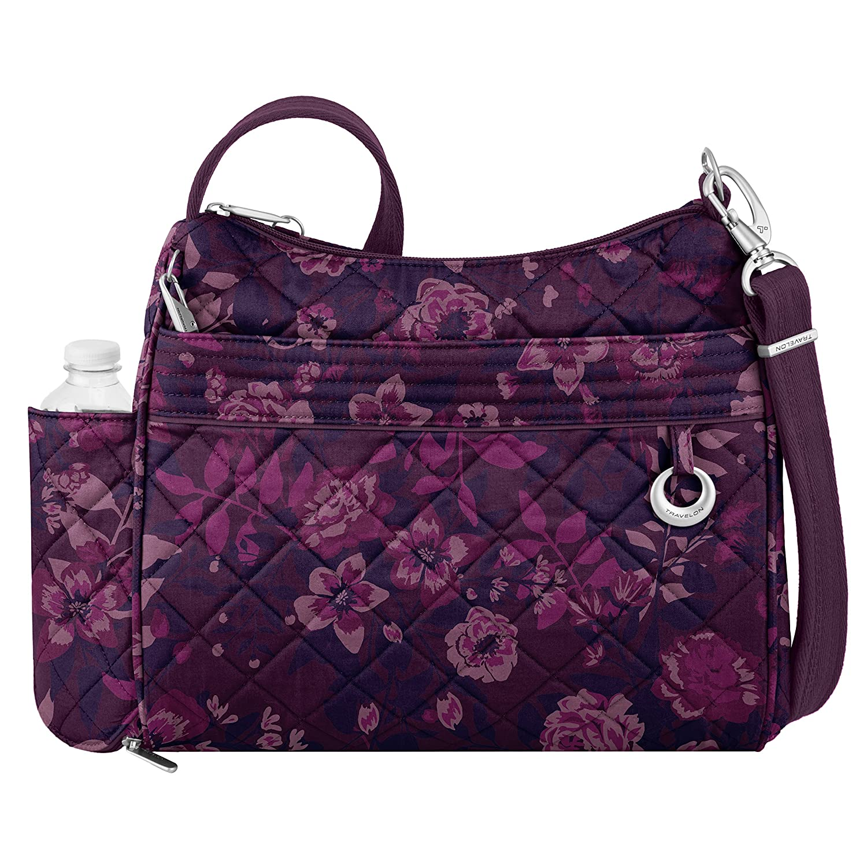 Travelon 33220 32X Anti-Theft Boho Square Crossbody Bag, Summer Paisley, One Size TRBO3