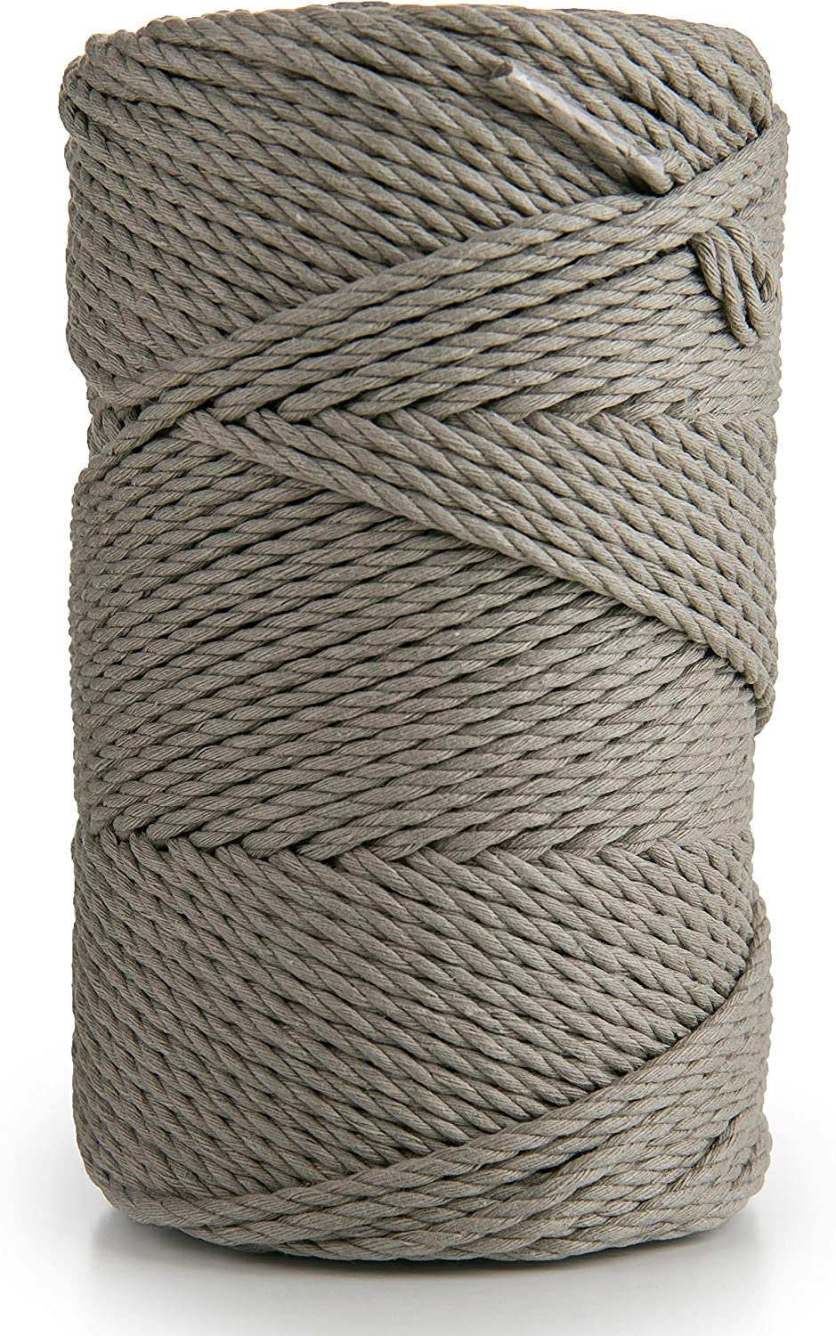 Wall Art White Soft 3 Strand Twisted Cotton Rope for Handmade 135m Cotton Yarn String for Plant Hanger Dream Catcher and DIY Projects Pure White Macrame Cord 3mm x 147 yd MB CORDAS
