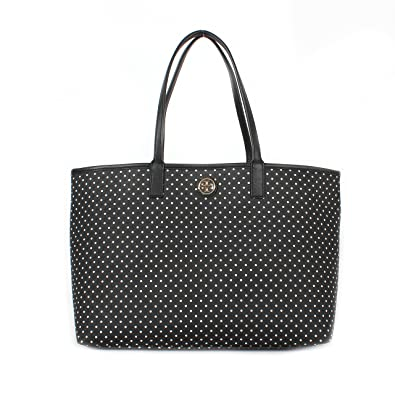 4eb383667bf Amazon.com  Tory Burch Kerrington Shopper Shoulder Bag Viva Dot Mini Black   Shoes