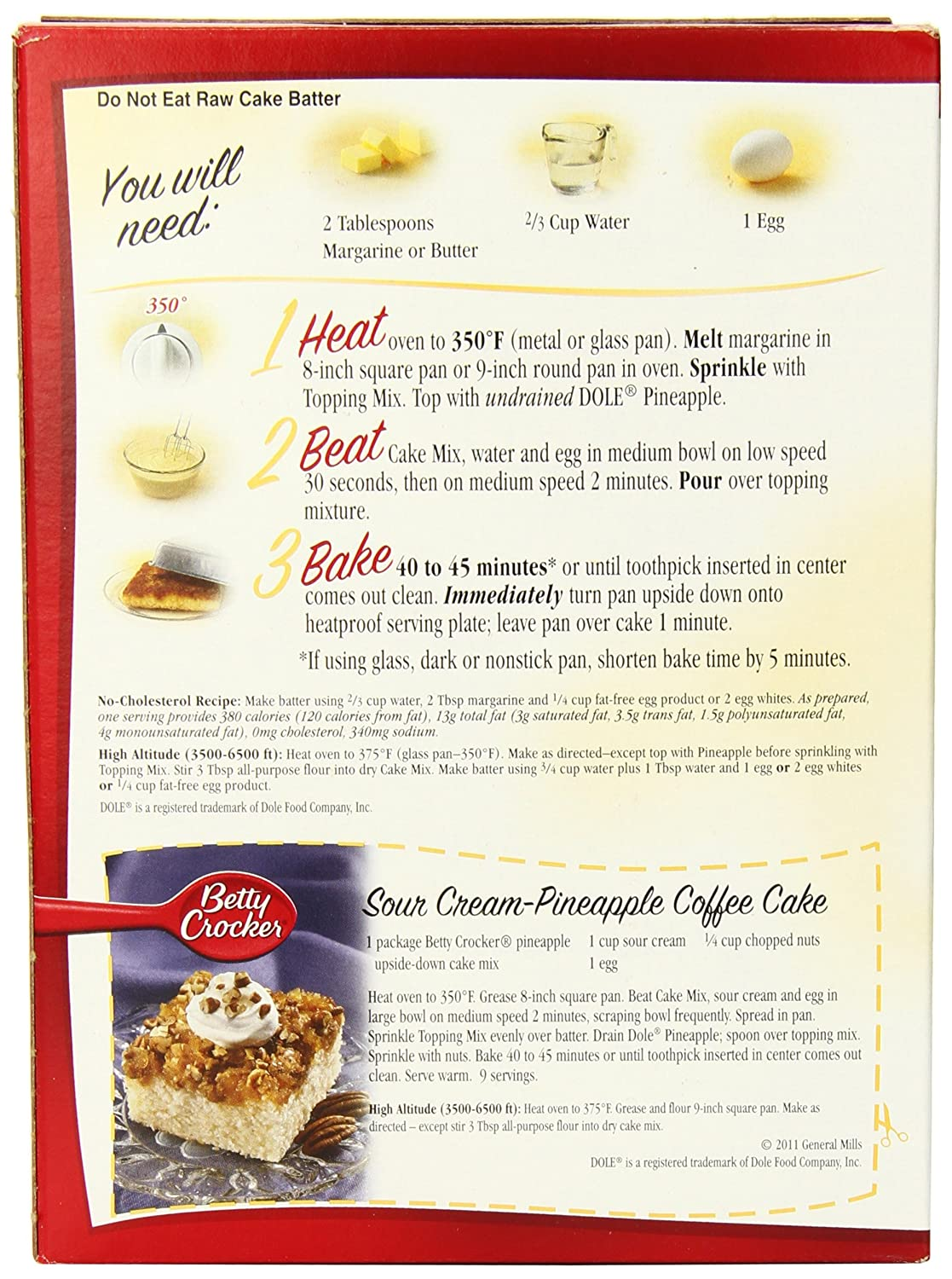 Betty Crocker Gluten Free Vanilla Cake Mix Ingredients