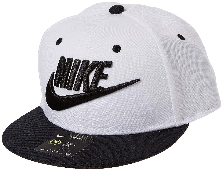 a3e1b9ce3089 Nike Youth Futura True Snapback Hat Black/White 614590-010: Amazon ...