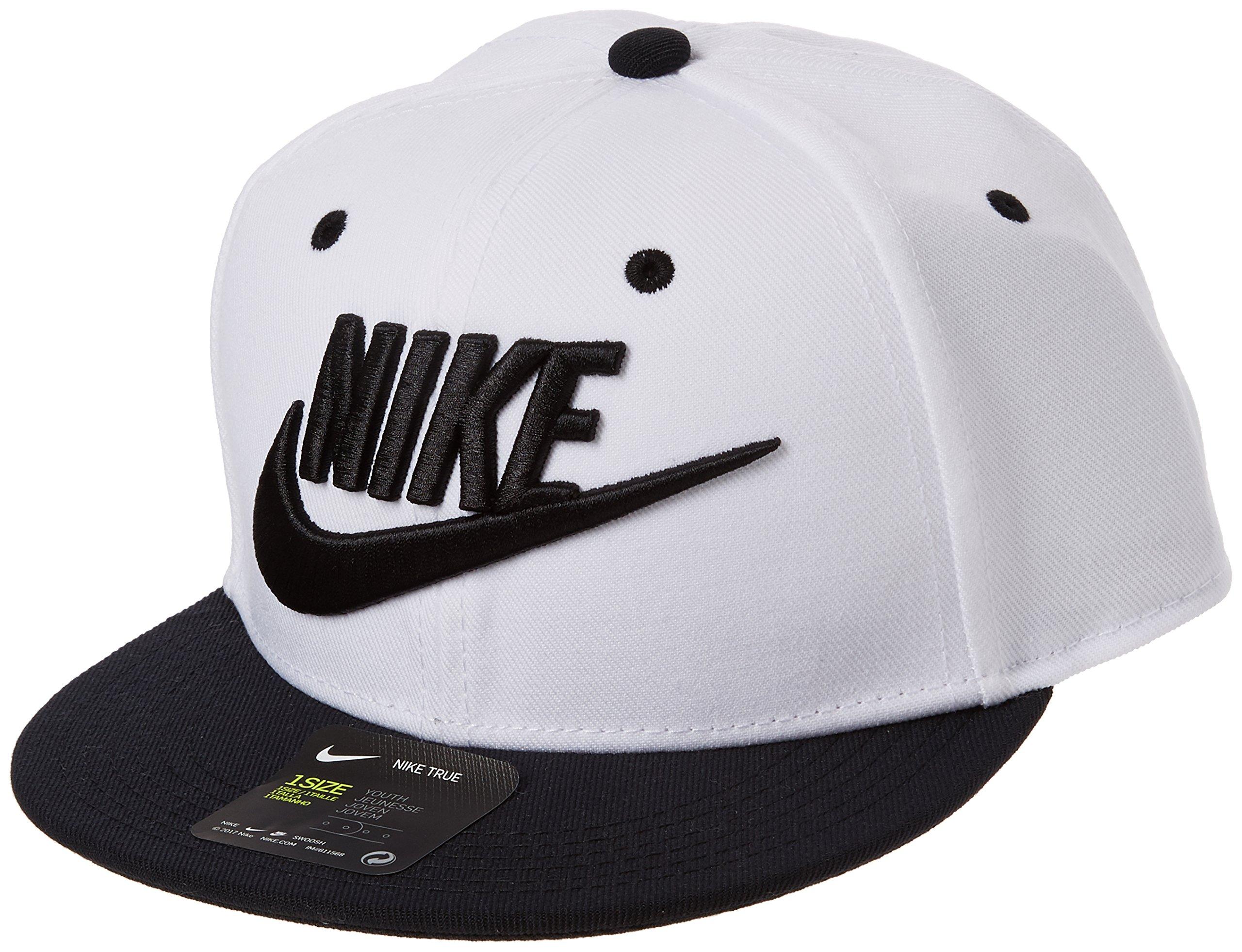3f7735928403a Galleon - Nike Future True Snapback Cap Big Kids White/Black/Black/Black  Baseball Caps