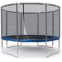 Ampel 24 Outdoor Trampoline Ø 366 cm blau oder grün, Komplettset mit verstärktem Sicherheitsnetz, Belastbarkeit 160 kg, 3 Ausführungen, Extra Schutz