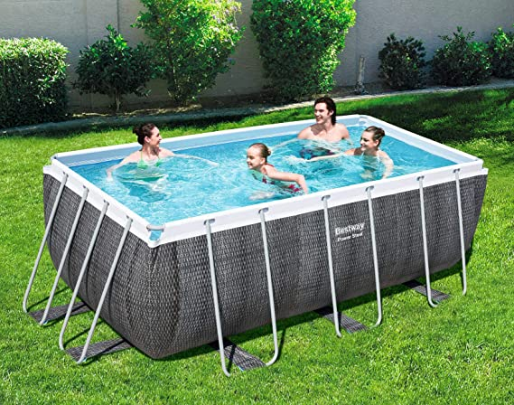 Bestway Power Steel rechteckig Piscina Rectangular sin Bomba ni ...