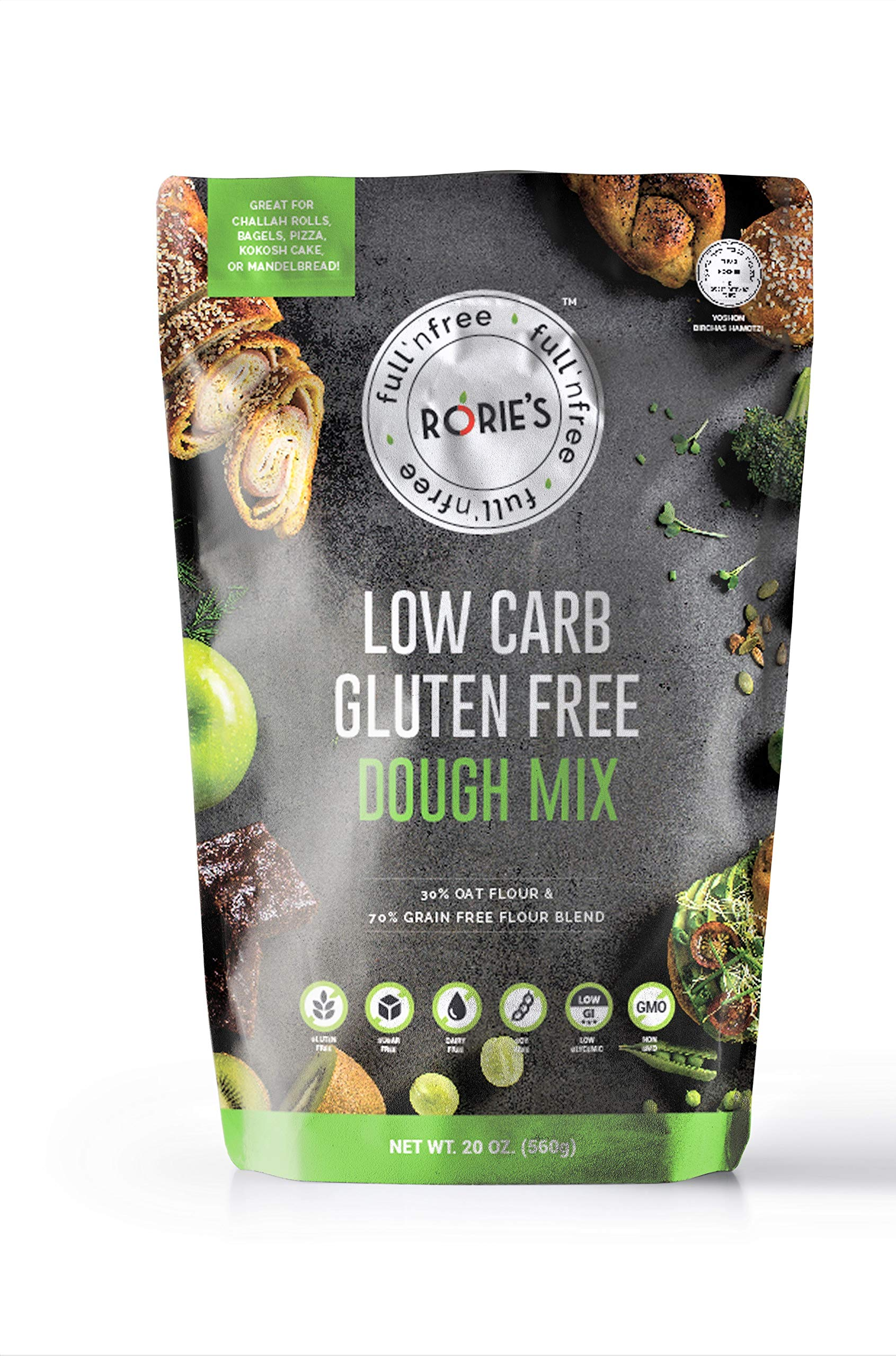 Rorie's Low Carb Gluten Free Oat Dough Mix (20 oz) Living Full N' Free by Rorie's
