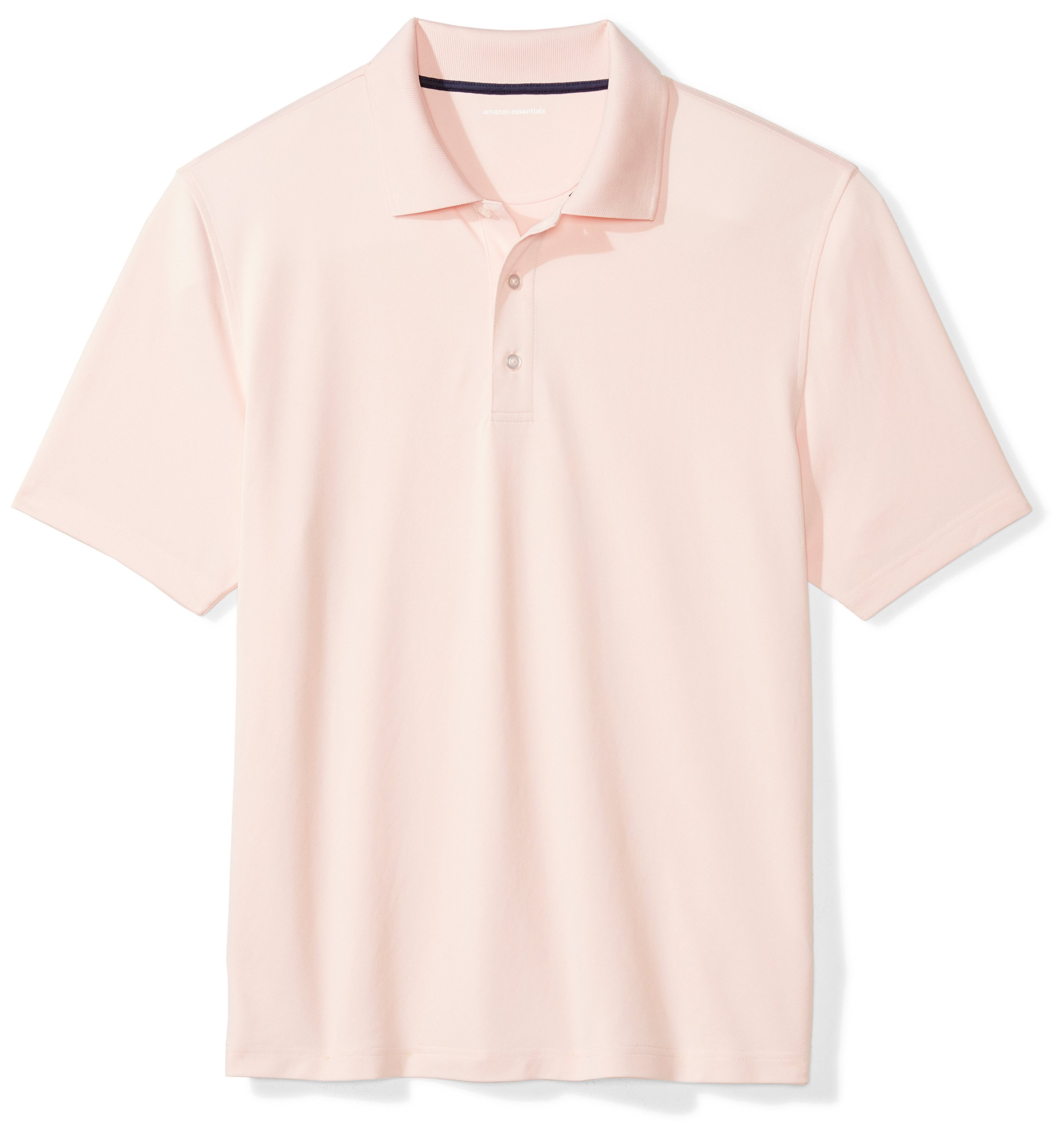 Amazon Essentials Men's Regular-Fit Quick-Dry Golf Polo Shirt, light pink, Large by Amazon Essentials