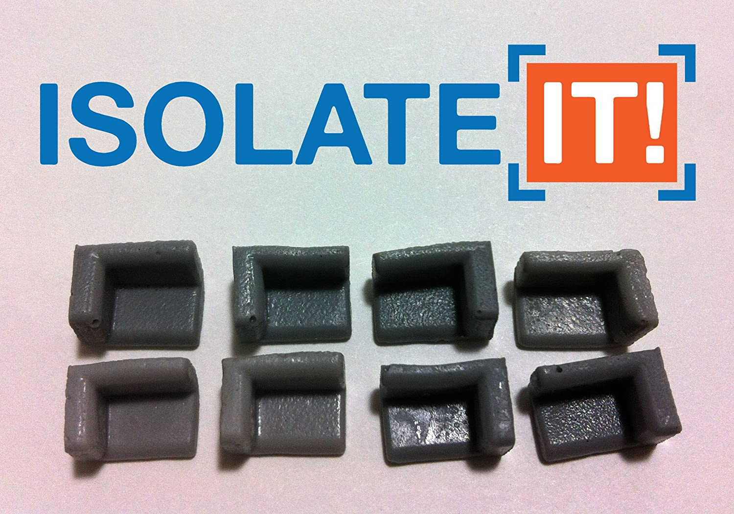 Sorbothane Hard Drive Shock Protection Corner Pad 1//10 Thick 50 Duro Isolate It 8 Pack