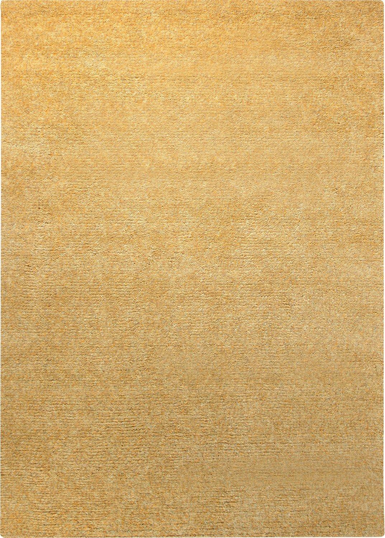 ESPRIT Hochflor-Teppich Spacedyed gelb meliert Flor 100% Neuseelandwolle Größe  170 x 240 cm